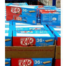 Caixa Chocolate Kit Kat Ao Leite Com Cookies - 36 Barras