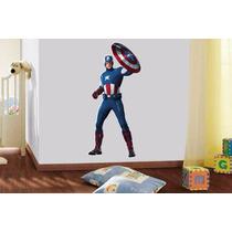 Adesivo Parede Infantil Quarto Super Heroi Capitão América