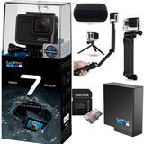 Câmera Gopro Hero 7 Black+bat+3way+cartão Class10 64gb+case
