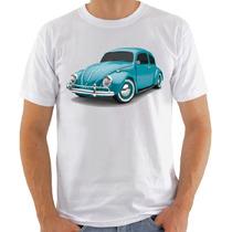 Camiseta Vw Fusca Azul