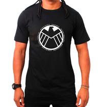 Camiseta Agents Of Shield Preta Agentes Marvel Banda Netflix