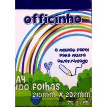 Papel Sulfite A4 Officinho 100 Fls- 75g/m² Caixa Com 50 Pct