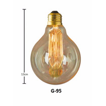 Lampada Filamento Carbono Retro Vintage 220v G95