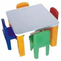 Mesa Infantil Escolar C/ 4 Cadeiras - Preço De Fabrica