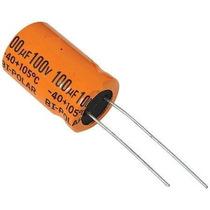 Capacitor Eletrolitico 100 X 100v Bipolar 105º Corneta 50 Pç