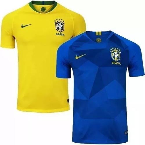 Kit 2 Camisa Polo Brasil Brasileira Passeio-treino Frete Grt - R ... b34766a66a5de