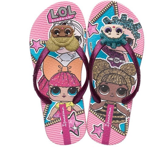 33199a4d453 Chinelo Infantil Lol Surprise - Rosa - Ref. 26.320