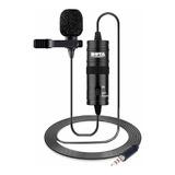 Kit Com Microfone Boya By-m1 Condensador Omnidirecional Preto