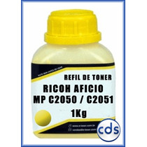 Refil De Toner Kilo Ricoh Aficio Mpc 2050 2051 Yellow 1kg