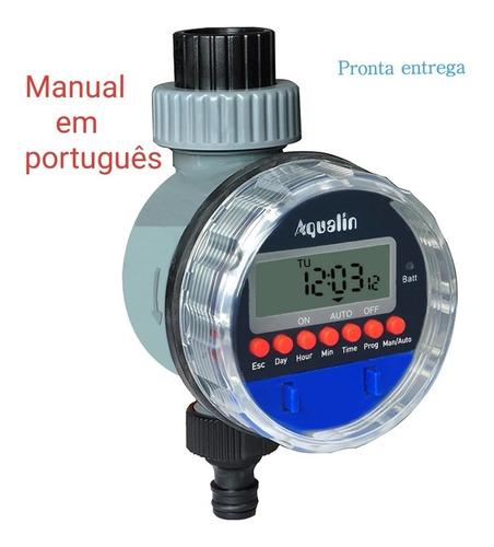 Temporizador Irrigação Digital Timer Fluxo Água Aspersor
