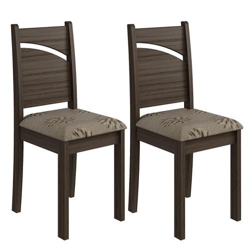 Conjunto Cimol 2 Cadeira Melissa Carvalho / café
