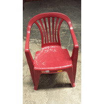 Cadeira Com Braço De Plastico Antares Vinho Empilhável