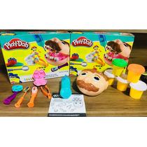 Kit Play-doh Brincando De Dentista Massinha Codigo 02