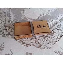 Caixa Em Mdf Cru 8x8x4 15 Anos, Porta Joia Artesanato
