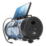 Caixa Caixinha De Som Bluetooth Microfone D-p8 Usb P2 Mp3 Fm