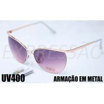 Óculos De Sol Feminino Uv400 Frete Grátis Original Hightligh