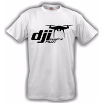 Camiseta Aeromodelismo Dji Pilot - Branca