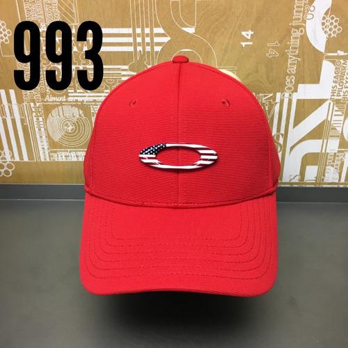 Bone Oakley Tincan Oval (vermelho C  Simbolo Eua) Lancamento - R ... 74e0c58833