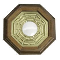 Quadro Baguá Espelho Covexo 18cm Feng Shui