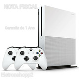 Xbox One S 1tb Slim Microsoft 4k +2 Controles + Nota Fiscal