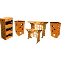 Kit Provençal Estrela-mesa +02 Cubos+ Estante+aparador Festa