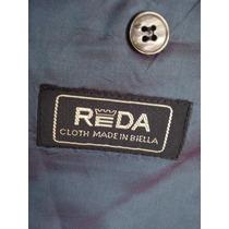 Blazer Fashion Usado Botões Dourados-lã-made In Biella