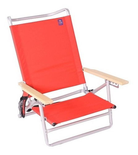 Cadeira Praia Piscina Malibu Alumínio 5 Posições Bel Lazer