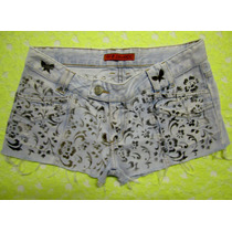 Shortinho 44 Curto Sawary Pintura Artesanal Estilo Destroyed