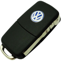 Kit Chave Canivete Telecomando Vw Gol Polo Golf Fox