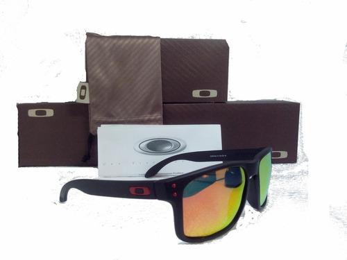 493c3063d7193 Óculos De Sol Oakley Holbrook Vermelho Masculino Polarizado