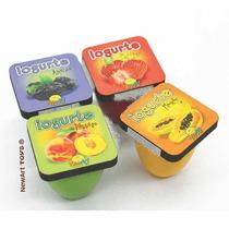 Brinquedo Madeira- Linha Comidinha- Iogurte 04pç