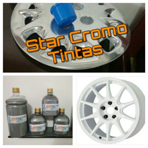 Tinta Cromo 500ml + Fundo Branco 900ml + Metal Flake