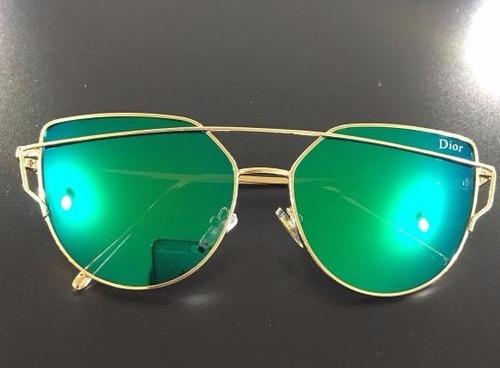 Óculos De Sol Feminino Espelhado Uv-400 Com Estojo b76eb8767d