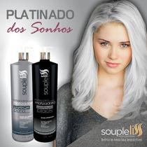 Máscara Matizadora Platinum Blond + Black Souple Liss 1 L