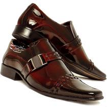 Sapato Social Masculino Alto Brilho Sofisticado Envernizado