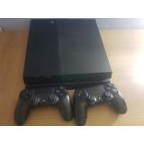 Playstation 4 500 Gb 2 Controles 115 Jogos E Conta Com Psn