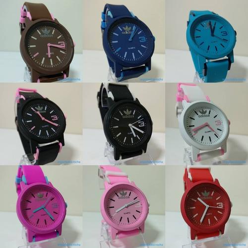 a8fc6bab231 Kit 5 Relógio adidas Color Lindo Promoção Top Lançamento