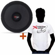Auto Falante Shutt 18 Polegadas 3k 1500w Rms + Camiseta