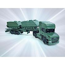 Scania 124l 400 + Plataforma Com 2 M113 Exército Ho 1:87hbm