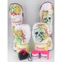 Kit Feminino Muay Thai Luva 12+ Caneleira + Bandagem + Bucal