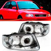 Farol Audi A3 2001 2002 2003 2004 2005 2006 Foco Duplo