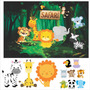 Kit Display + Painel 1,5x1m Festa Infantil Safari Original