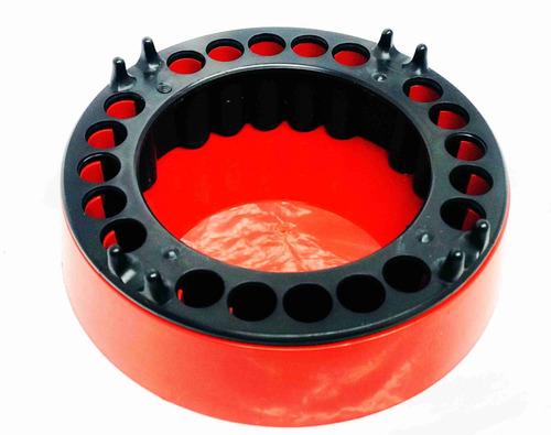 Cinzeiro Anti-fumaça 5 Unidades - Vermelho E Preto