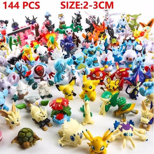 0fab10313b717 Kit 144 Pokemon Go Miniaturas Bonecos 2-3 Cm Sortido Pikachu