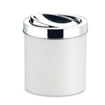 Lixeira Brinox Peças Branca Com Tampa Basculante Inox 18,5x