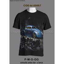 Camiseta Personalizada Vw Fusca Azul