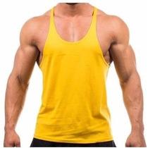 Camiseta Regata Cavada Musculação 100% Algodão 30.1