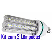 2 Lâmpadas Led 20w E27 Bivolt 110/220v Branca Fria Econômica