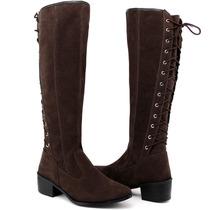 a80558c2b Busca botas feminina cano longo salto baixo com os melhores preços ...
