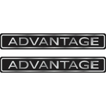 Kit 2 Adesivos Advantage Resinados Astra Corsa Etc + Brinde